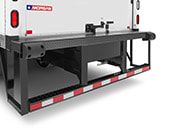 DOT (ICC) under-ride bumper w/ optional side steps, closure plate & bumper blocks